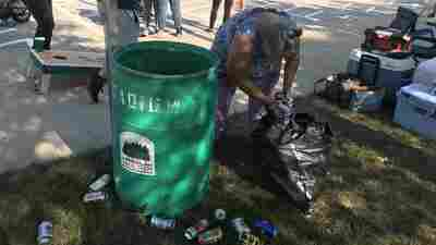 Tailgater Trash At Michigan State University Is Treasure For Can Collectors