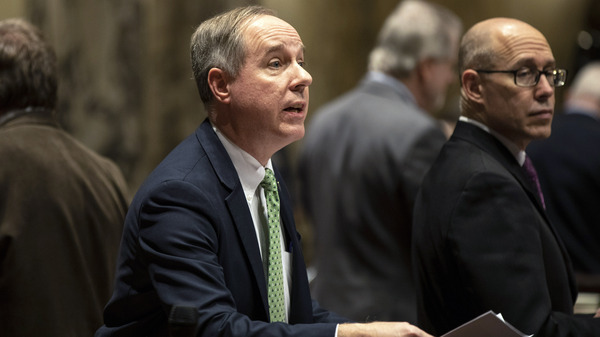 The investigation spurred by Wisconsin Assembly Speaker Robin Vos (left), seen here in 2019, is the most high profile of the state's three election inquiries.