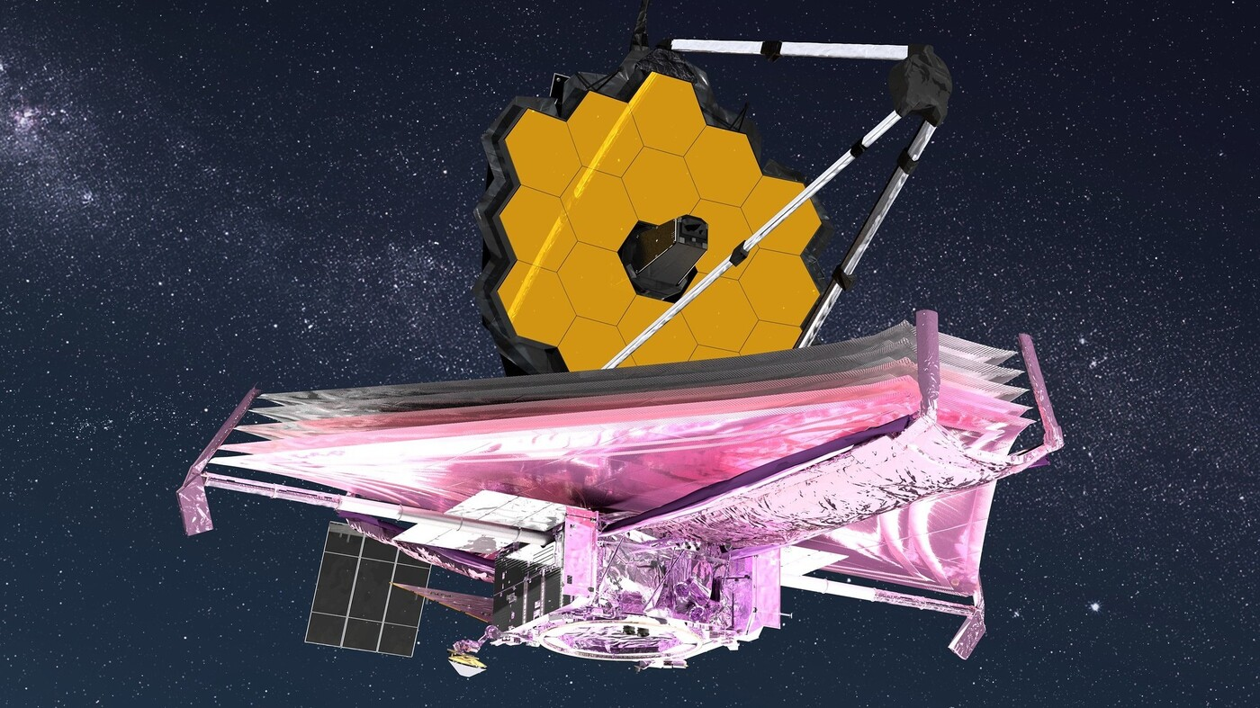 A high-tech, five-layer sunshield helps the telescope stay at negative 370 degrees Fahrenheit, so it can detect heat signals from ver