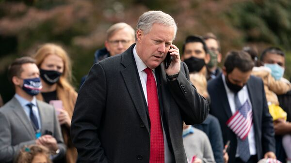 Former White House chief of staff Mark Meadows is one of four former advisers to then-President Donald Trump who were issued subpoenas Thursday by the House select committee investigating the Jan. 6 insurrection at the U.S. Capitol.