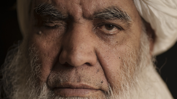 Taliban leader Mullah Nooruddin Turabi in Kabul, Afghanistan, Wednesday, Sept. 22, 2021. One of the founders of the Taliban, he says they will once again carry out punishments like executions and amputations of hands.