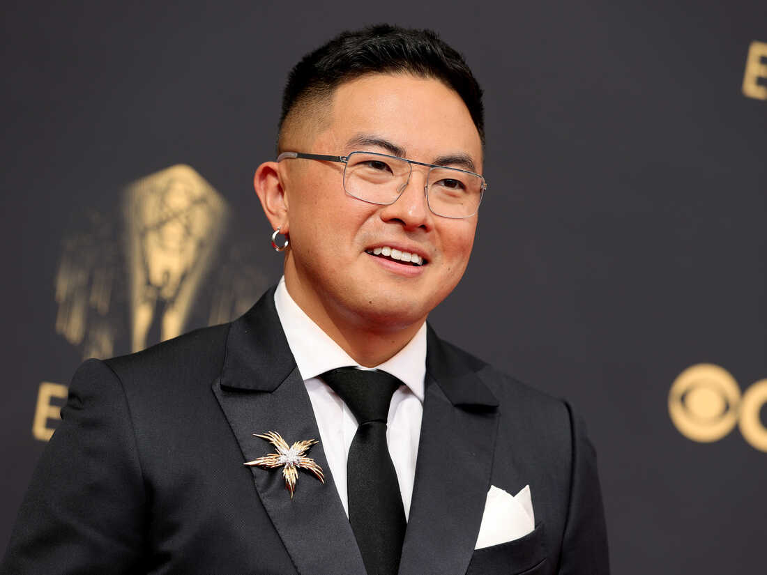 Bowen Yang attends the 73rd Primetime Emmy Awards at L.A. LIVE on Sept. 19 in Los Angeles.