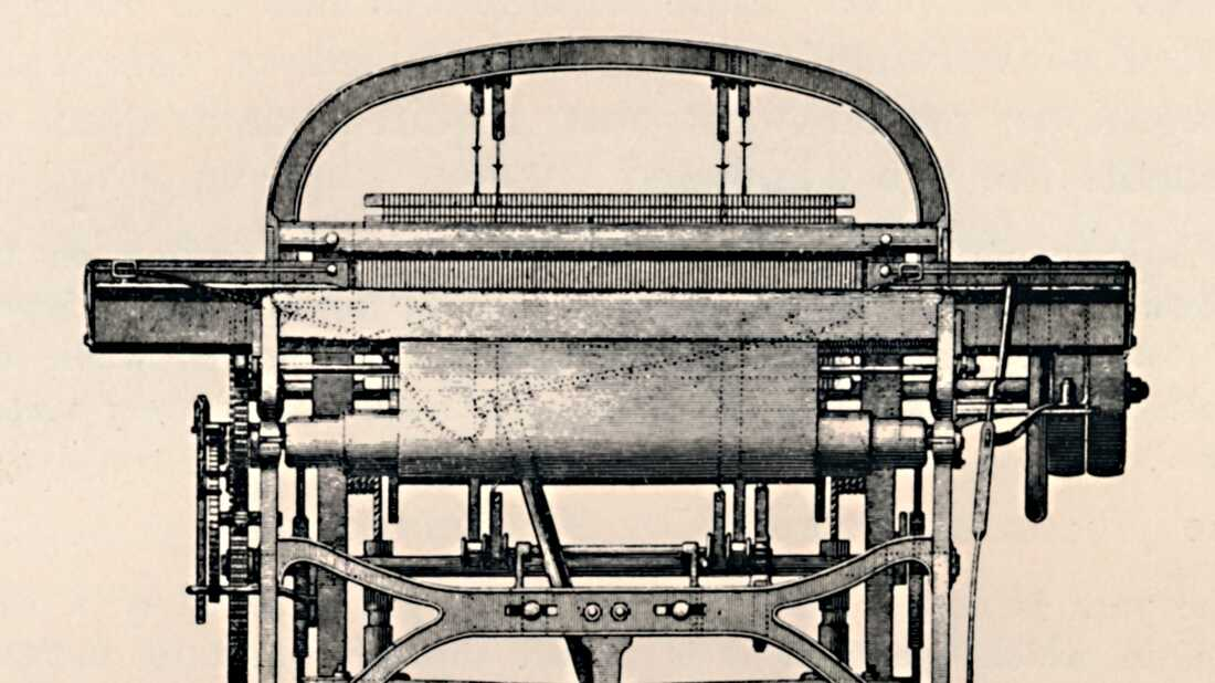 Power Loom (Front View)', 1836, (1904). From Social England, Volume V, edited by H.D. Traill, D.C.L. and J. S. Mann, M.A. [Cassell and Company, Limited, London, Paris, New York & Melbourne, 1904] Artist Unknown. (Photo by Print Collector/Getty Images)