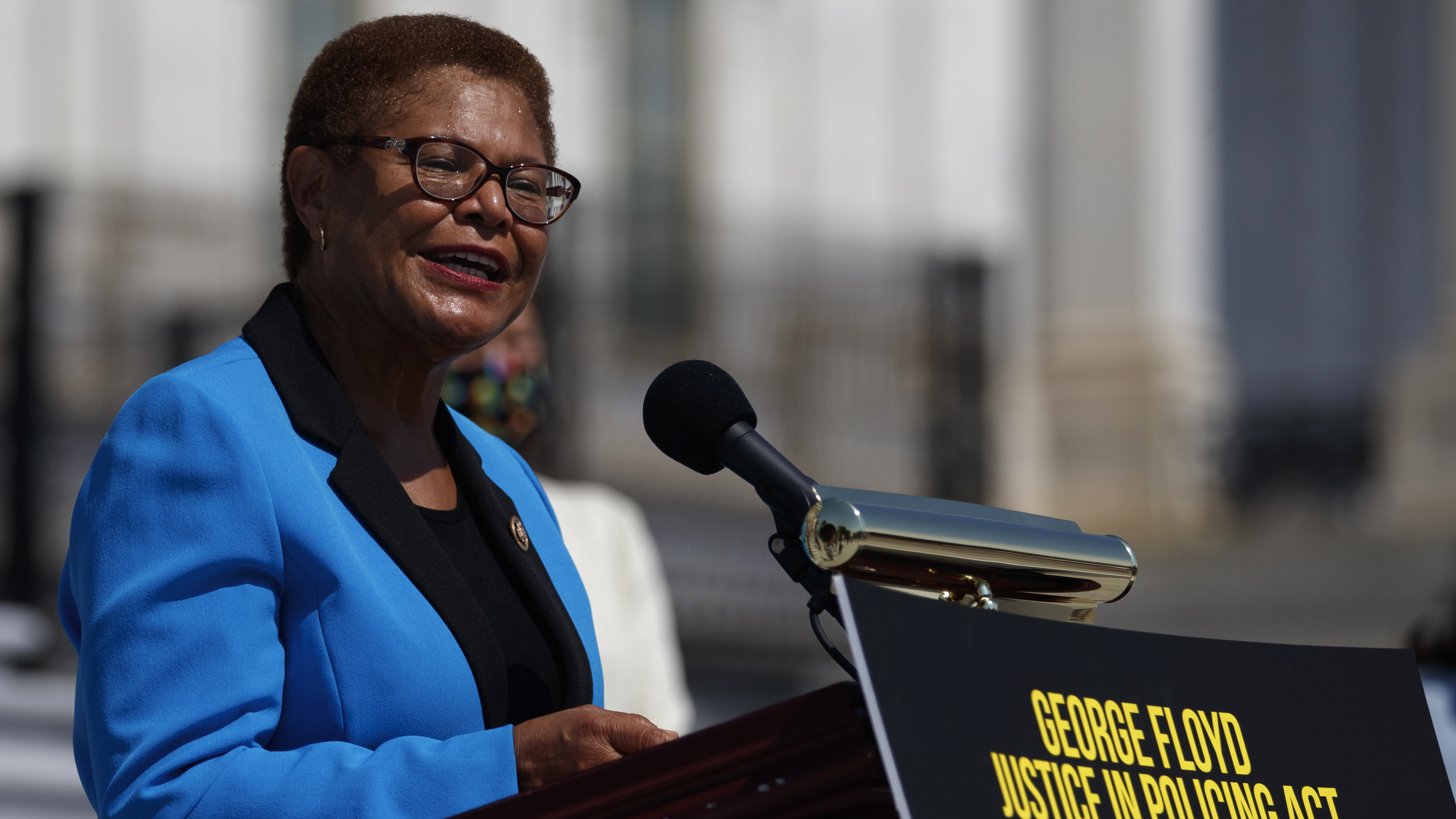 Rep. Karen Bass, D-Calif., has launched a bid to become the next mayor of Los Angeles.