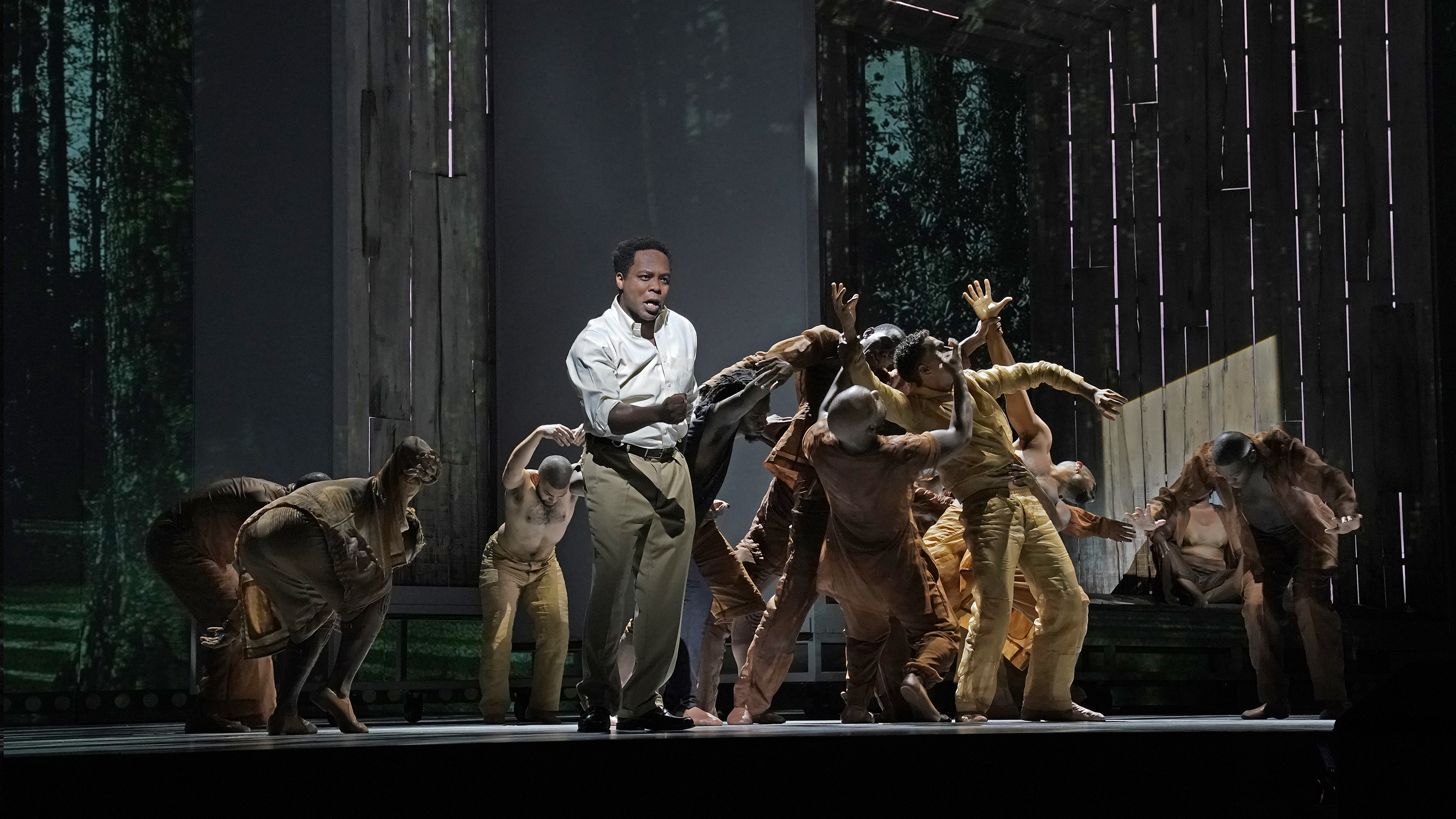 Will Liverman (center) as Charles in Terence Blanchard's Fire Shut Up in My Bones.