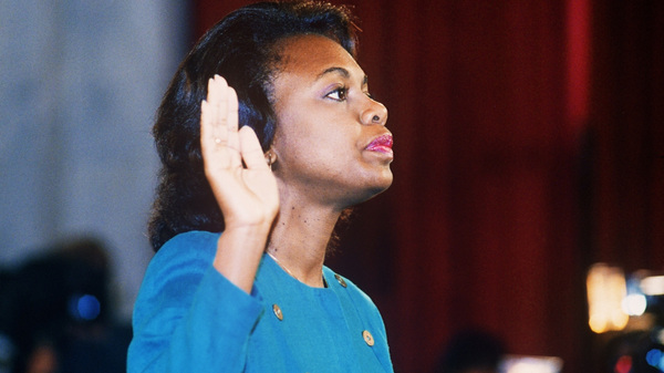 """Hill doesn't regret testifying against Clarence Thomas during his Supreme Court confirmation hearing in 1991. """"I believe there is victory in being able to come forward and state what has happened to you,"""" she says."""