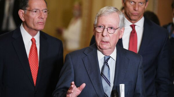 Senate Minority Leader Mitch McConnell, R-Ky., led opposition among Republicans to a voting rights bill that centrist Democrat Joe Manchin of West Virginia hoped to corrall GOP votes for.