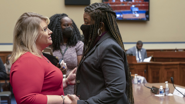 After the hearing, Rep. Cori Bush and Rep. Kat Cammack, each with a drastically different opinion on abortion rights, embraced.