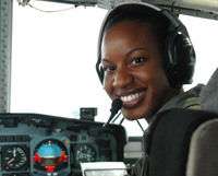 Cmdr. Jeanine Menze, stationed at Coast Guard Air Station Barbers Point in Oahu, Hawaii, in 2006.