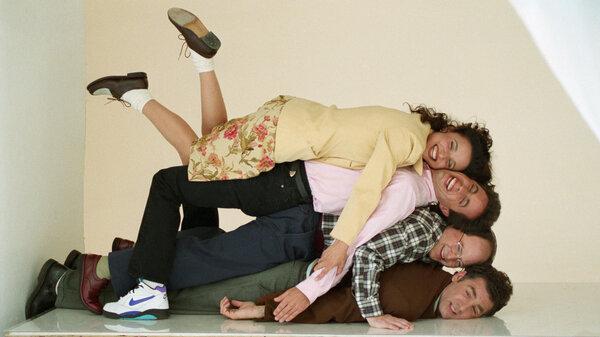 Seinfeld castmembers Julia Louis-Dreyfus, Jerry Seinfeld, Jason Alexander and Michael Richards.