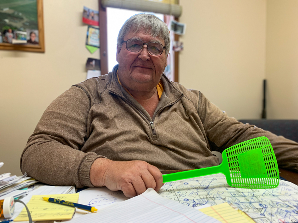 Jim Ziegler, owner of Lake View Livestock in Devil's Lake, worries many of his older customers won't be back next year.