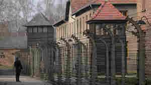 Authorities are investigating antisemitic graffiti found on Auschwitz barracks