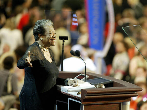 Poet and activist Maya Angelou seen addressing the Democratic National in Boston, Massachusetts in July 2004. She is one of the female trailblazers who will be featured on some U.S. quarters starting in 2022.