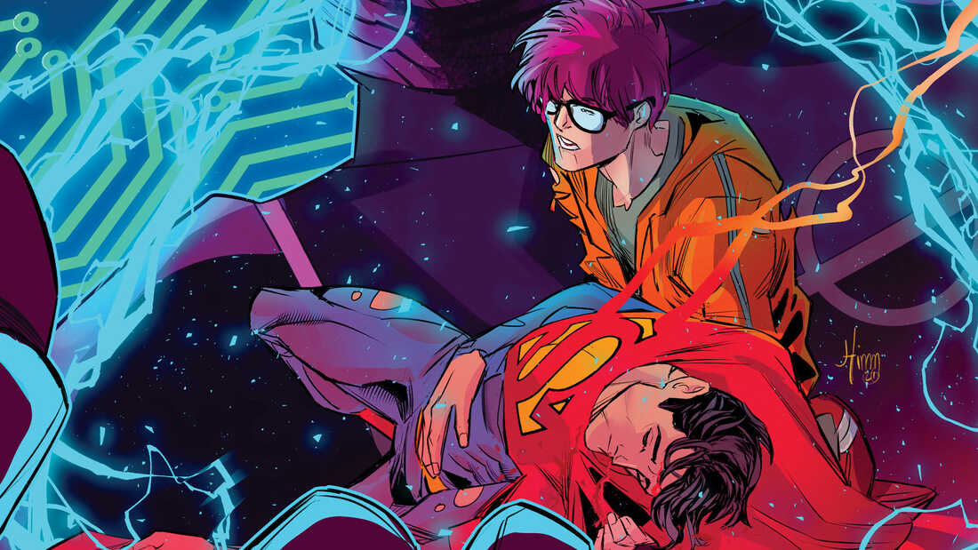 I Pieta the Fool: On the cover of Superman: Last Son of Kal-El #5, Superman (Jon Kent) is cradled in the arms of his boyfriend.