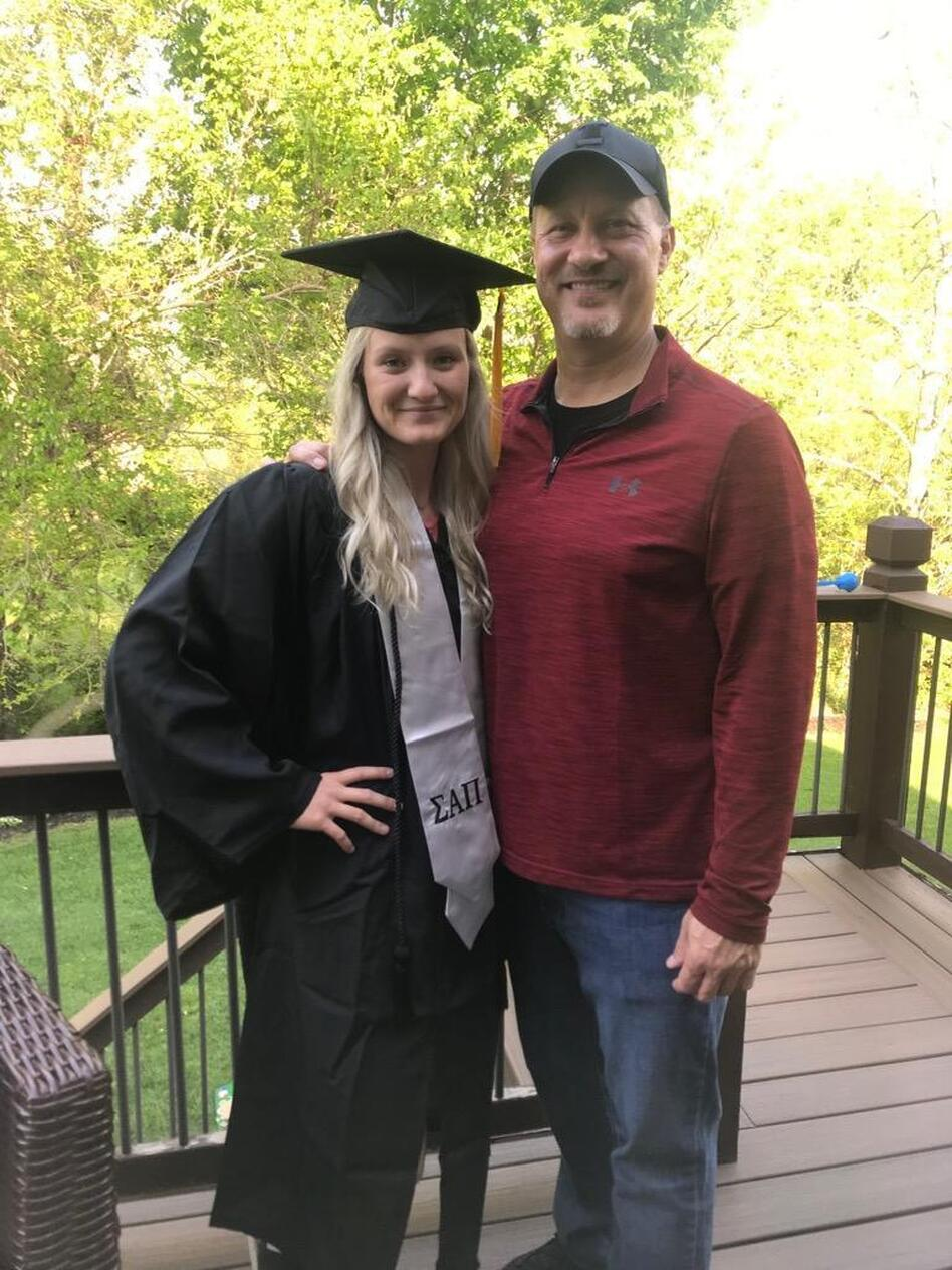 In May 2021, more than a year after his liver transplant, Brian Gorzney attended his daughter Cameron's college graduation.