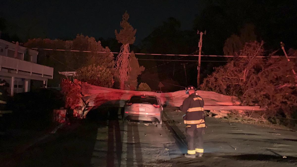 California wildfires destroy mobile homes, 1 man burned: NPR