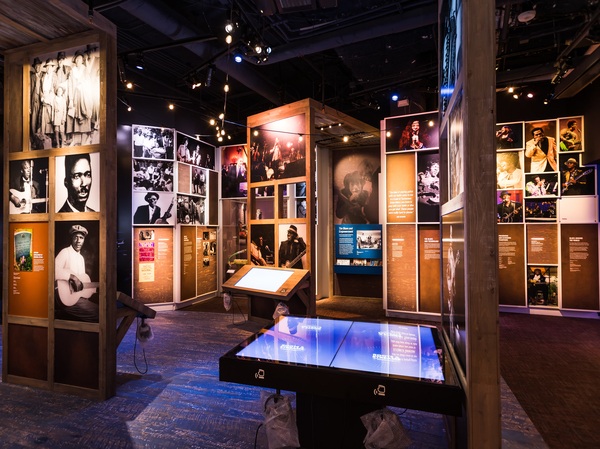 """""""Crossroads"""" Gallery at the National Museum of African American Music."""