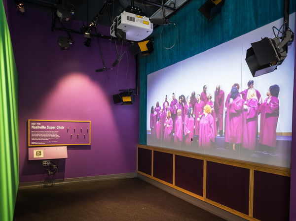 """""""Wade in the Water"""" exhibit at the National Museum of African American Music."""
