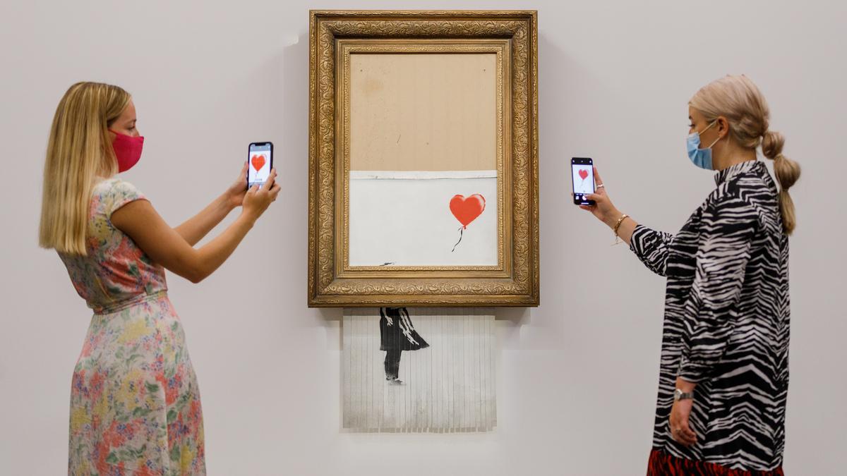 Partially shredded Banksy auction for $ 25.4million: NPR