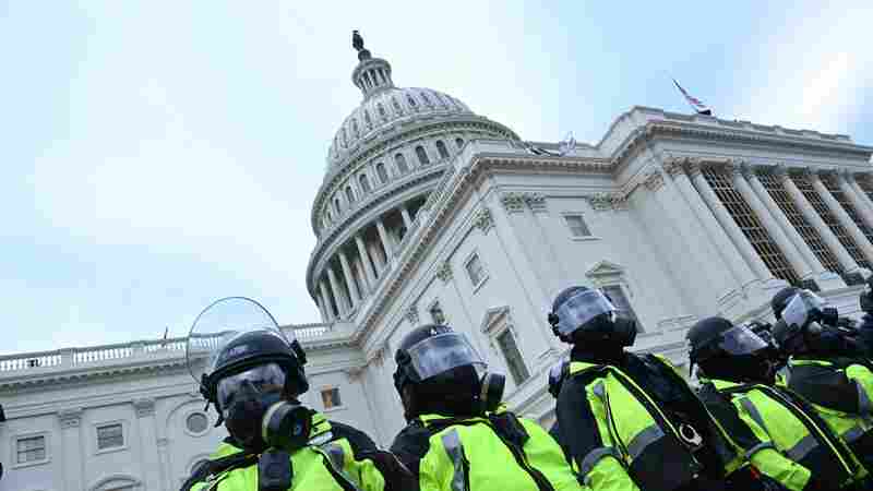 A Capitol Police officer is accused of telling a Jan. 6 suspect to hide evidence