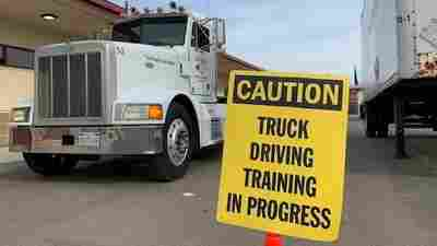 High schoolers are training to drive 18-wheelers amid a shortage of truck drivers