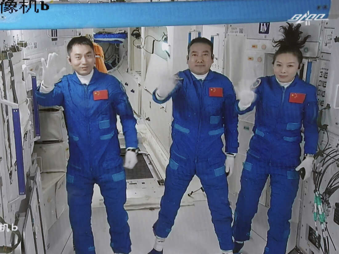 A new crew docks at China's first permanent space station