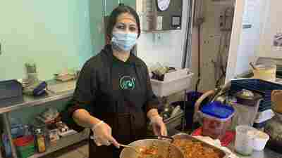 She barely made it out of Kabul. Now she's welcoming Afghans with a familiar meal.