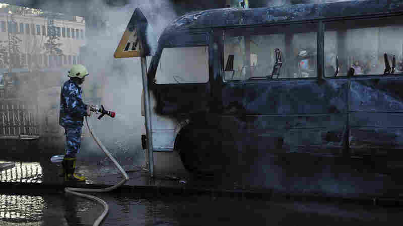 14 people died in a military bus blast, the deadliest attack in Damascus in years