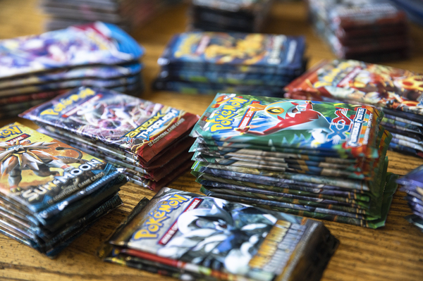 Packs of Pokemon Co. cards in Random Lake, Wisconsin, U.S., on Thursday, July 1, 2021.