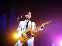 Prince performs in Paris at the Grand Palais on Oct. 11, 2009. The musician died in 2016.