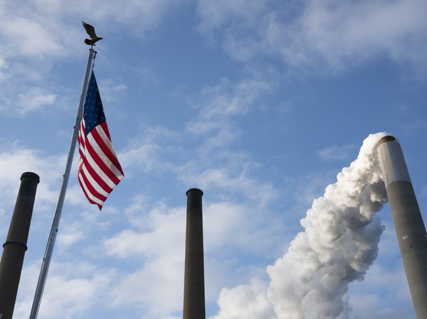 Emissions rise from a smokestack in Ohio. The United States has contributed more heat-trapping pollution than any country over time and has been the prime driver of global climate change.