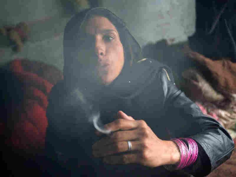 Drug user in Afghanistan