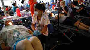 wide: Patients receiving dental care.