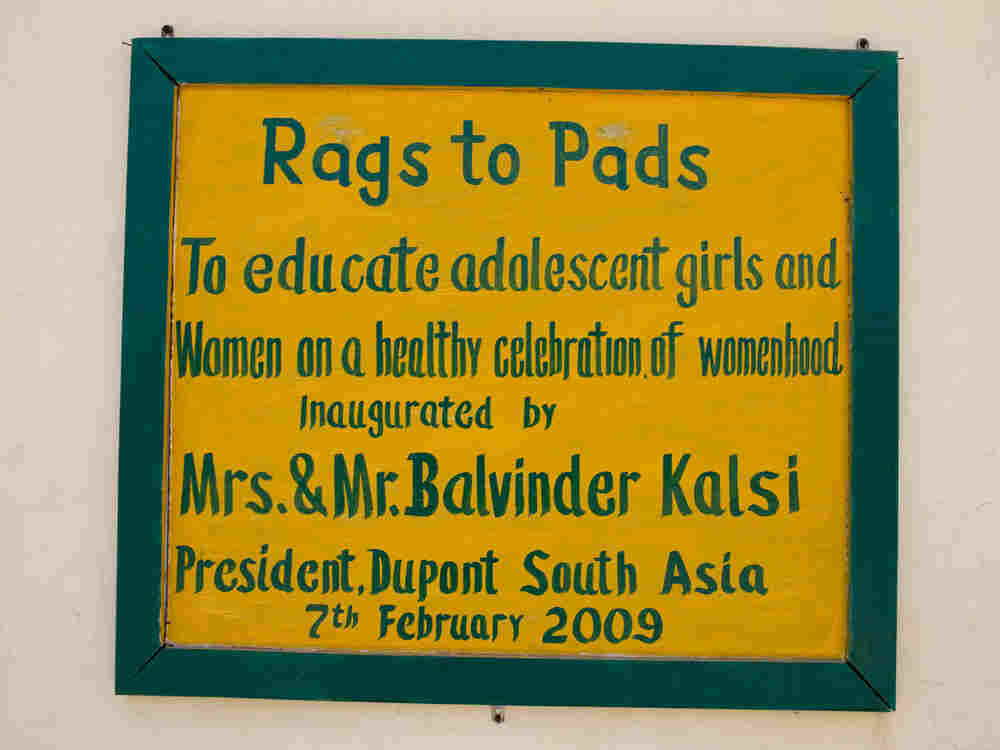 Rags to Pads Sign