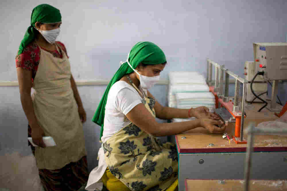 Girls Make Pads In Rural India