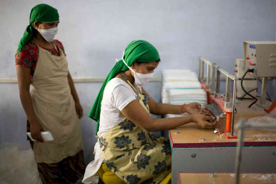 Girls Make Pads In Rural India