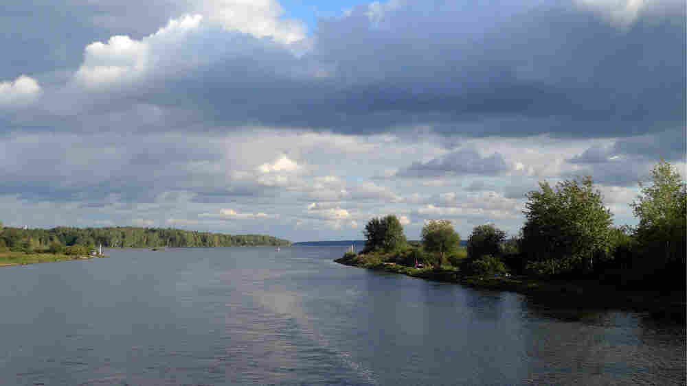 Traveling down the Moscow-Volga canal heading into the river proper.