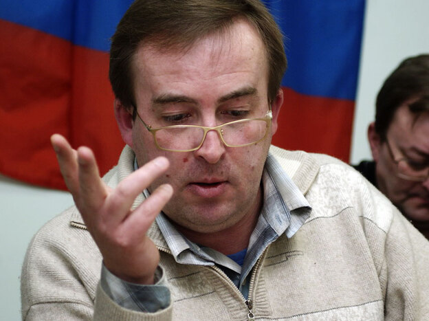 Sergei Pochechuyev, a political consultant based in Saratov, worked for United Russia until he broke ranks with the party in 2008. He says the local party machine uses a mix of illegal activities and domination of institutions to destroy enemies. He has yet to find a publisher for his tell-all book.
