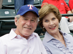 Photo of W. as Texas Rangers owner