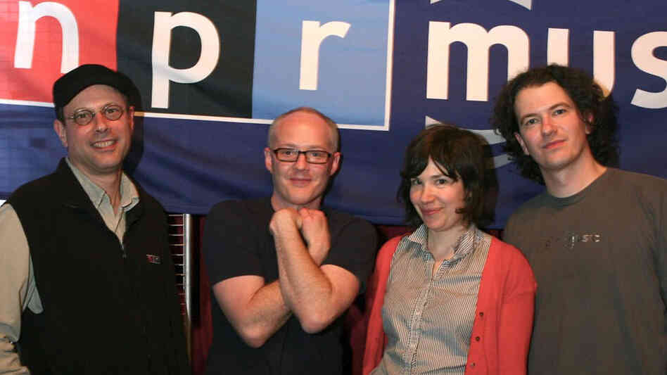 Bob Boilen, Robin Hilton, Carrie Brownstein and Stephen Thompson at The Parish in Austin, Tex.