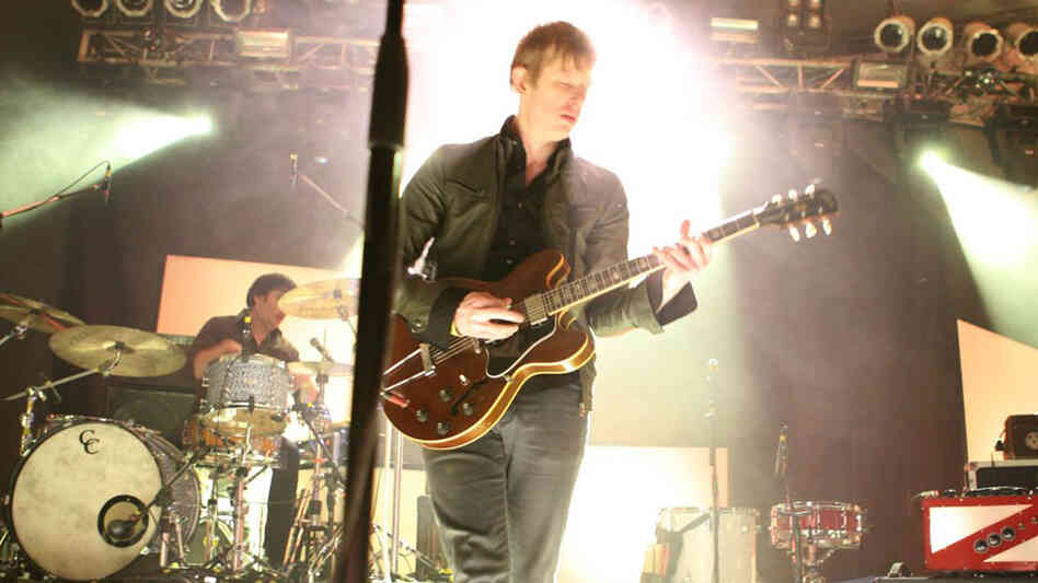 Spoon's Britt Daniel performing at NPR Music's showcase at Stubb's.