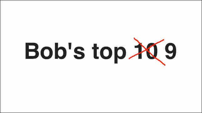 Bob's Top 9 Albums Of 2010