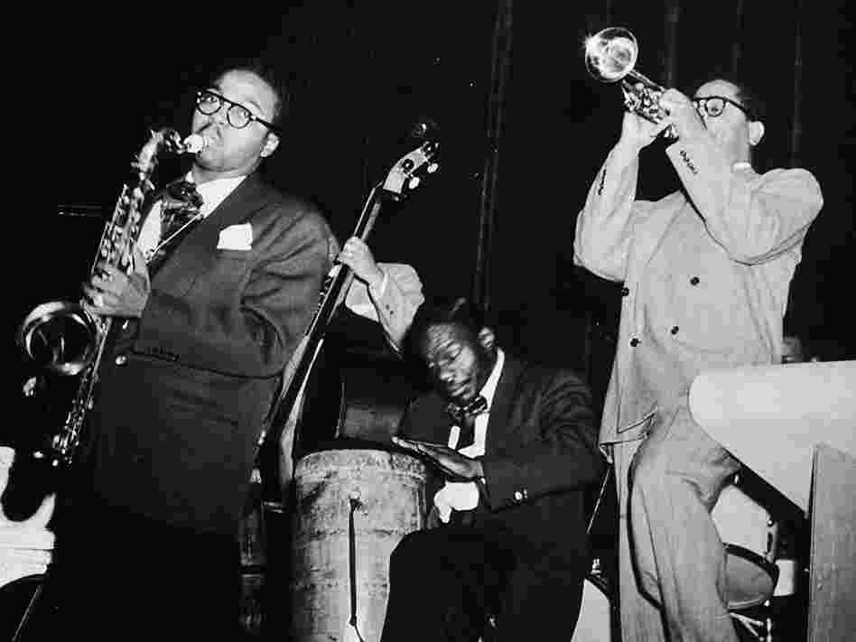 Dizzy Gillespie, Chano Pozo, James Moody.