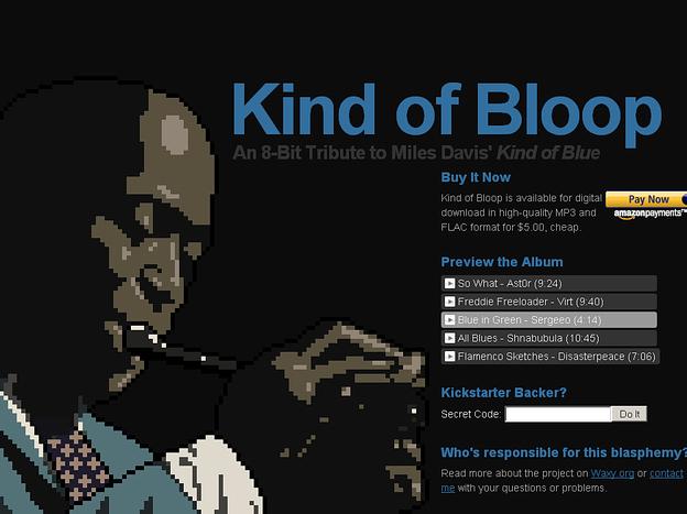 kindofbloop.com home page