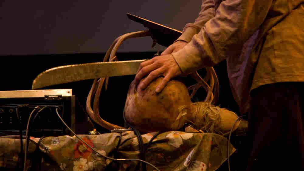 Nick Becker plays the gourd.