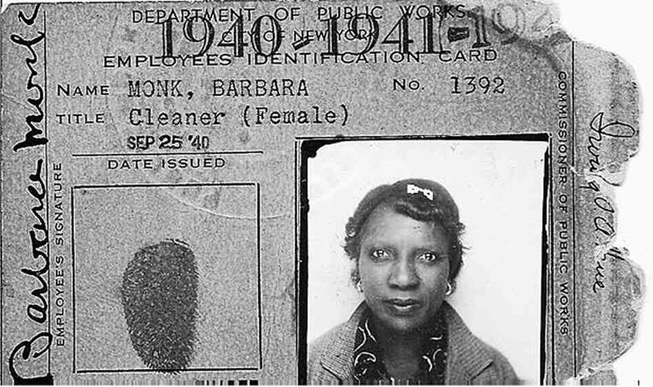 the photo ID of Barbara Monk.