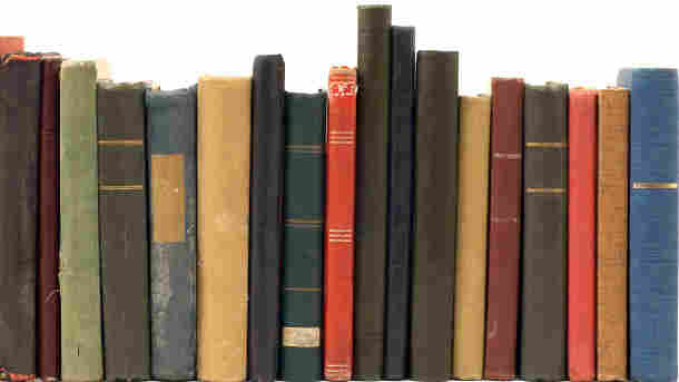 Row of ancient tomes