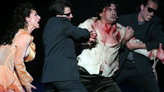 """A scene from Puccini's """"Tosca"""""""