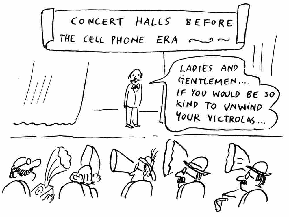 """Concert Halls Before The Cellphone Age"" by Pablo Helguera"