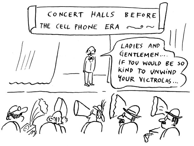"""""""Concert Halls Before The Cellphone Age"""" by Pablo Helguera"""